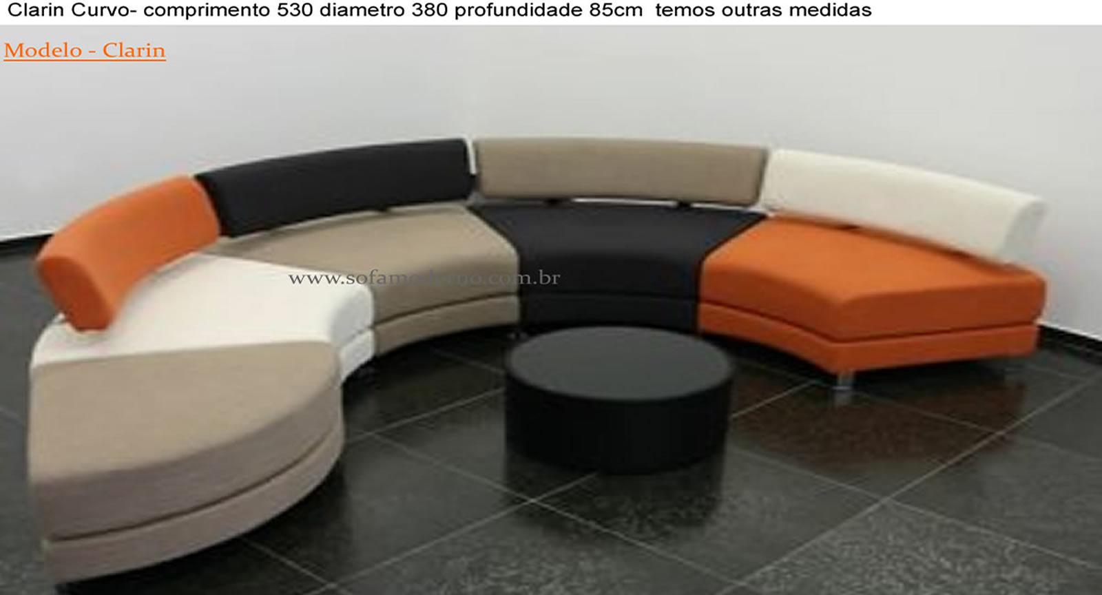 Sof curvo sof redondo em s o paulo em fortaleza em for Sofas modulares modernos