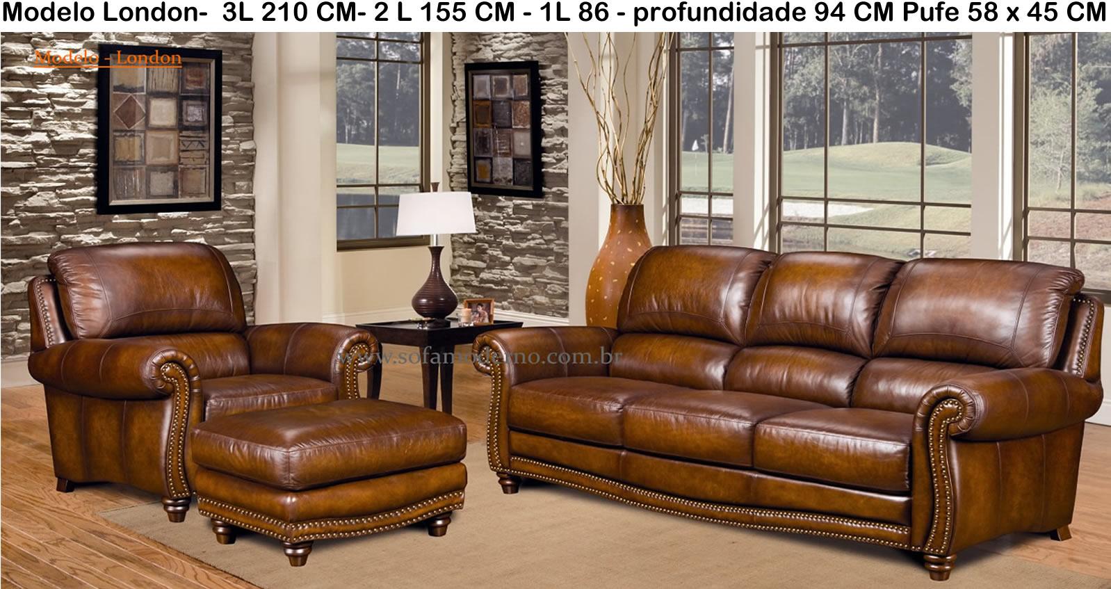 Sofá de Couro - Conforto e Beleza - sofamoderno.com.br