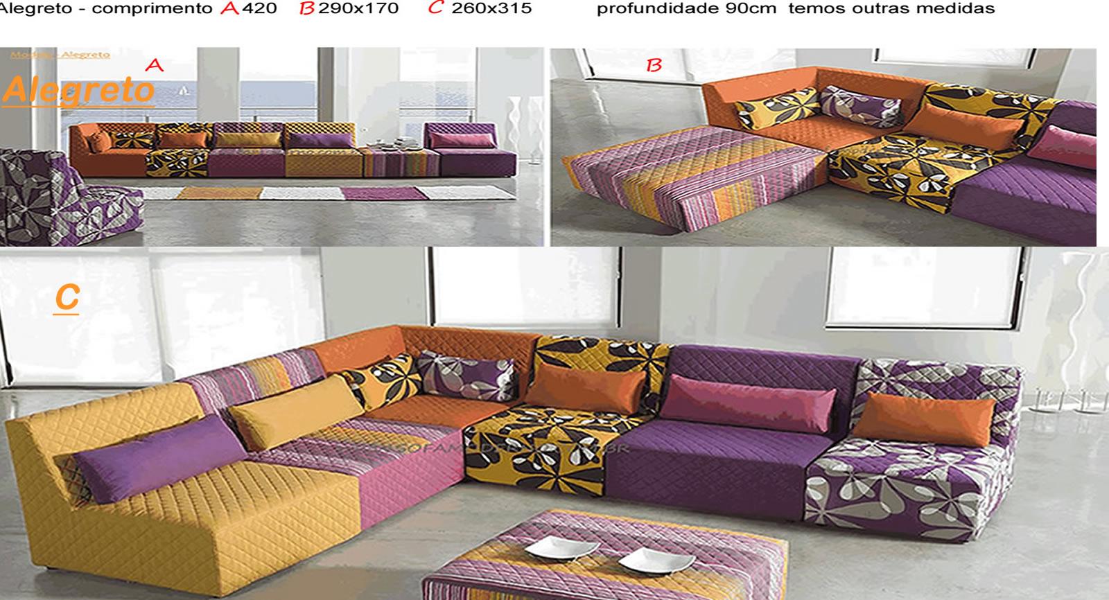 Sofa moderno modelos com garantia lindos do brasil for Sofa cama modular